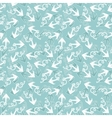 Seamless texture with pattern of stylized anchors vector image