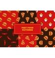 set of geometric flat fast food seamless vector image