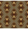 Vintage seamless pattern damask vector image