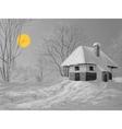 Winter silent night vector image