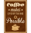 Coffee time - typography vintage background vector image vector image