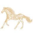Horse of the stars vector image vector image