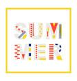 summer modern banner design element vector image