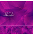 fractal purple vector image vector image