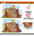 find differences cartoon task vector image