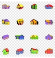 House set icons vector image