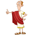 roman emperor with thumb up vector image