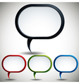 Abstract modern style speech bubble vector image vector image