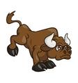 Angry bull cartoon 2 vector image