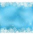 Blue snow mesh background vector image
