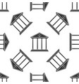 courthouse seamless pattern on white background vector image