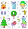 Doodle of christmas set art vector image