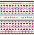 geometric cute pattern with the inscription love vector image