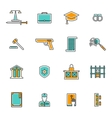 Judgement Line Icons Set vector image