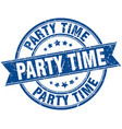 party time round grunge ribbon stamp vector image