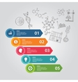 science 5 steps elements of icon drawing chemistry vector image