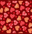 valentines day background design doodle hand vector image