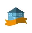 real estate building emblem ribbon shadow vector image