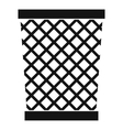 Wastepaper basket icon simple style vector image