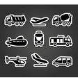 Set of stickers transport color pictograms vector image vector image