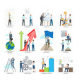 successful business making concept poster vector image