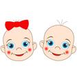 2 babies vector image