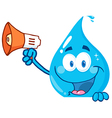 Cartoon water droplet vector image vector image