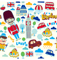 London travel elements vector image vector image