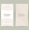 Vertical wedding invitation card with lace vector image