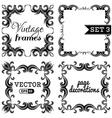 set 3 Hand-drawn vintage frames vector image