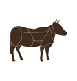 Cow icon Animal silhouette design graphic vector image