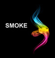 Abstract futuristic colorfull smoke background vector image