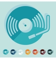 Flat design turntable vector image