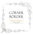 hand drawn corner flourish text graphic design vector image
