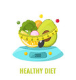 healthy diet concept natural food on kitchen vector image