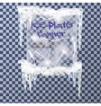 Ice plate banner vector image
