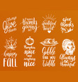 thanksgiving lettering with vector image