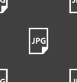 Jpg file icon sign Seamless pattern on a gray vector image