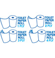 Toilet Paper Icon Set vector image