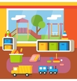 Kindergarten classroom preschool room interior vector image