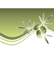 Olives Wavy Frame vector image vector image