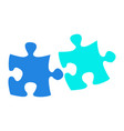 isolated puzzle pieces vector image