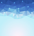 nice blue ice polygonal background vector image