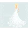 Beautiful bride card vector image vector image