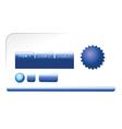 modern blue web elements vector image