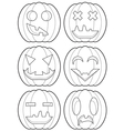 Set of pumpkins outlines vector image vector image
