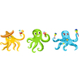 octopus set vector image vector image