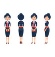 beuaty woman in cute suit vector image
