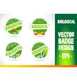 Biological Badge vector image