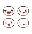 Face design Icon set Expression vector image